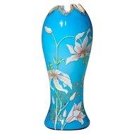 Legras Art Nouveau Enameled Vase