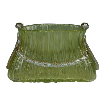 Loetz Yellow Texas Empire Vase PN II-2586