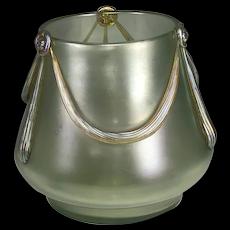 DOCUMENTED Loetz Olympia Glatt mit Empirebehänge Empire Vase Max Emanuel & Co London c. 1905