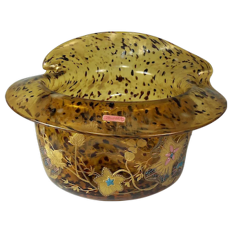 Fantastic Moser Tortoise Glass Decorated Bowl