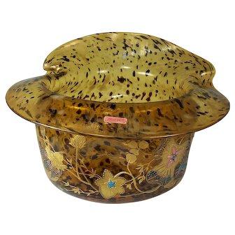 Fantastic Moser Tortoise Glass Decorated Bowl