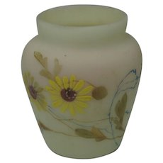 Mt Washington Burmese Round Top Toothpick Holder with Yellow Daisy Decor