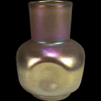 Early Frederick Carder Steuben Gold Aurene Vase Shape No. 158