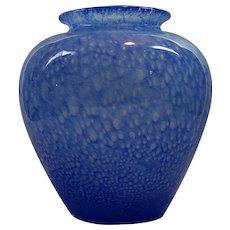 Signed Steuben Carder Era Blue Cluthra Vase Classic Shape No. 2683