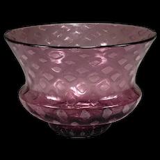 Beautiful SIGNED STEUBEN Carder era Amethyst Silverina Vase