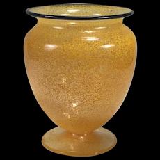 Beautiful & RARE STEUBEN Carder era Orange CINTRA Shape No. 938 Vase