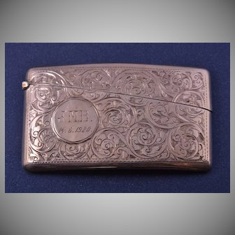 Silver 1910's Lady's Card Case