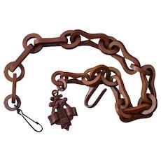 Vulcanite Victorian Fob Chain