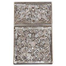 Silver Vintage Calling Card Case