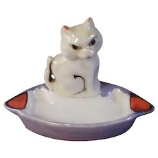 Cat Cigarette Small Ash Tray - Made in Japan