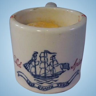 Old Spice Mug with Shaving Soap - Ship Grand Turk