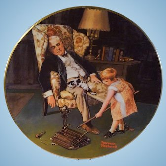 Norman Rockwell's Grandpa's Guardian Collector's Plate - 1982