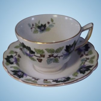 Booth's Jade Lotus Cup and Saucer Set