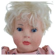 "US Zone Period Steiff Doll 13""- all original"