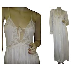 Petite Lily of France Nightgown Peignoir Robe Set Vintage