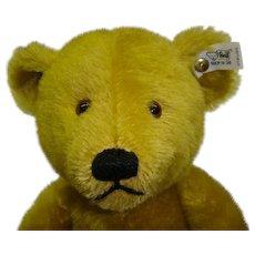 Vintage Retired Steiff Center Seam Bear Petsy Brass Limited Edition Mohair 1927 Replica