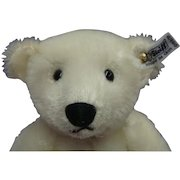 White Steiff Bear Retired Limited Collectors Edition Mohair Leather Paws Growler