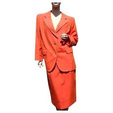 French Designer Silk Suit Yves Saint Laurent Rive Gauche