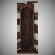 """HUGE 62"""" Primitive Antique Carved Trencher Bowl"""