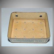 Vintage Fleischmann's Yeast Advertising Metal Soap Dish