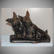 Hubley Cast Iron Doorstop Scotty Scottish Terrier Dogs