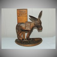 Swartz Baugh Folk Art Tin Donkey Mule Cigarette Dispenser