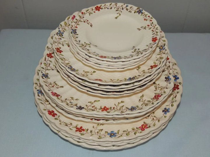 Copeland Spode Wicker Dale Dinnerware China Set & Copeland Spode Wicker Dale Dinnerware China Set : Conjunktion ...
