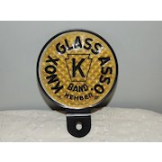 License Plate Topper Reflector Knox Glass Asso Band Member