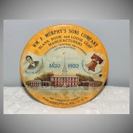 1820-1920 Wm Murphy Philadelphia PA Celluloid Pocket Mirror