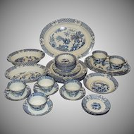 Wood & Sons Yuan Dinnerware Set Blue Transfer