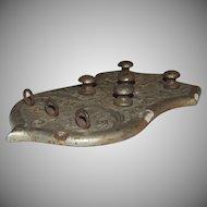 Antique Industrial Peninsular Furnace Draft Check Door