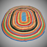 Country Primitive Farmhouse Braided Rug in Bright Fiesta Colors