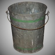 Antique Primitive Large Galvanized Dry Measure Bucket
