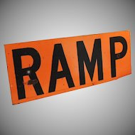 Vintage Metal Ramp Sign