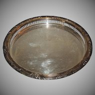Vintage Watson Silver Serving Tea Tray Platter