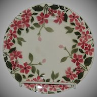 Keller & Guerin French Porcelain Plate Forget Me Not