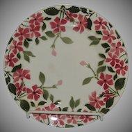 Keller & Guerin French Porcelain Plate Forget Me Not