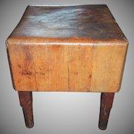 Antique Primitive Maple Butcher Block Table