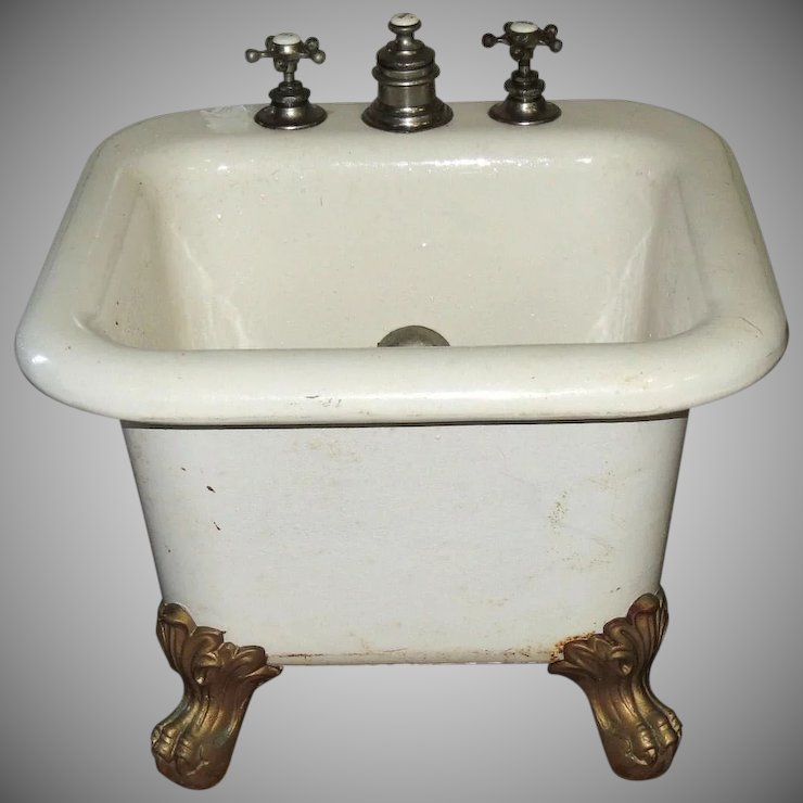 Cast Iron Porcelain Ball & Claw Child Baby Foot Bath Tub ...