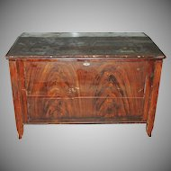 Mid 1800s Grain Painted Tack Hardware Blanket Chest