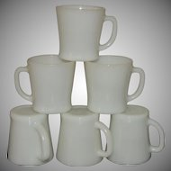 1940s Vintage Anchor Hocking Oven Proof Glass Mug Cup