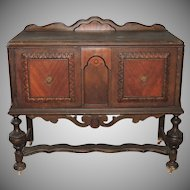 Jacobean Renaissance Revival Walnut Sideboard Buffet Server