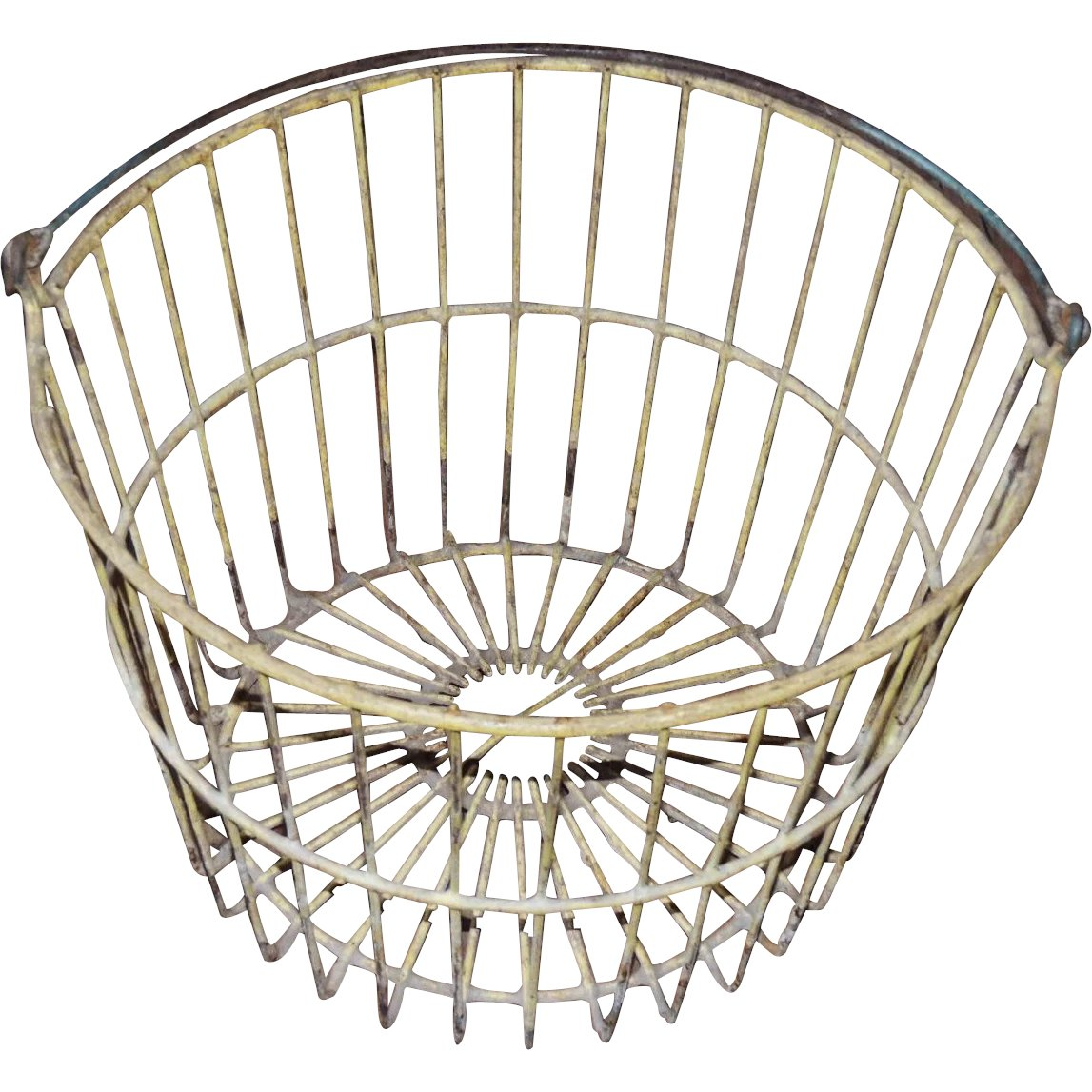 Early Primitive Wire Egg Basket with Bale Handle : Conjunktion ...