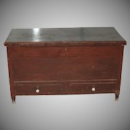 Two Drawer Sheraton Blanket Chest
