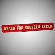 Sunbeam Bread Door Push Handle Advertising Sign
