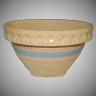Small McCoy Yellow Ware Mixing Nesting Bowl Stoneware Pottery