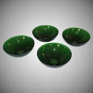 4 Anchor Hocking Forest Green Glass Bowl