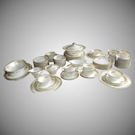 89 Pc Noritake Carmela China Dinner Set Dinnerware