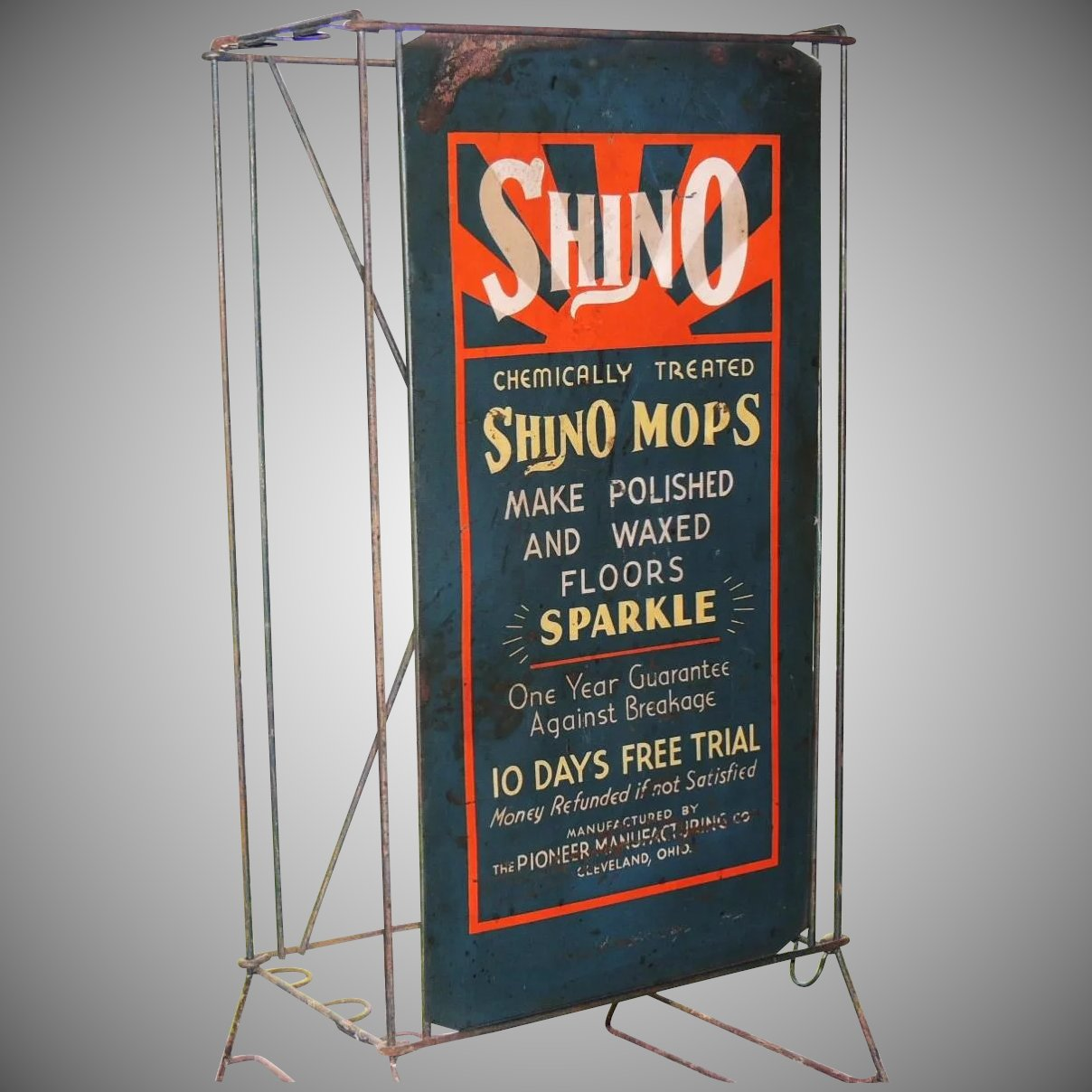 Vintage Shino Mop Wire Rack Store Display & Sign : Conjunktion ...