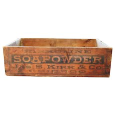 Kirk Soapowder Soap Powder Kirkoline Wood Shipping Crate Box